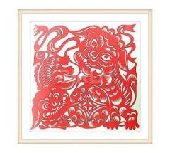Lion Dance Chinese paper cutting