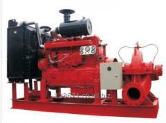 Diesel engine trailer mounted dewatering pump