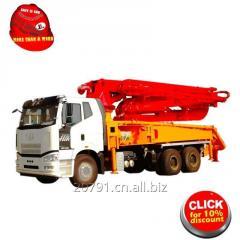 27m concrete pump/mobile concrete pump/concrete mixer pump/concrete pump trailer