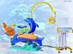 Lovely dolphin design Dental Chair just for children, with detached unit box