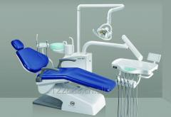 Dental Chair with whole glass spittoon, high quality halogen operation lamp