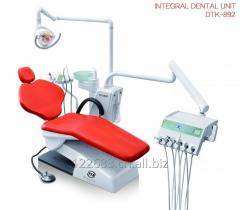 Dental chair with big size tool tray, small unit box and intelligent control system
