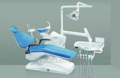 Basic Dental Chair with rotary assistant position, high quality halogen operation lamp