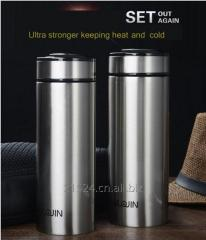 Heat preservation scholar bottle With Filter Double Wall Stainless Steel bottle Vacuum Flask
