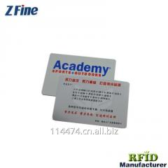 Promotional PVC Glossy Surface Silver Powder Card