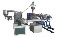 PP PE PET Water Cooling Strands Pelletizing Granules Plastic Extruder Production Line