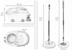 KXY-JLT spin mop with foot pedal