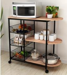 TF012  kitchen storage cart 3 tier metal shelf