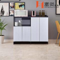 Metal Living Room Furniture Freestanding All Aluminum Storage Side Cabinet