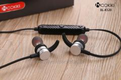 BL-K520 Bluetooth earphones Wireless Headphones Factory Metal Magnetic absorption Short Wired Small Sports In-Ear Stereo Headset For Mobile phone and Tablets
