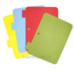 Set Of 4 Plastic Bulk Color Coded Chopping Cutting Boards For Kitchen