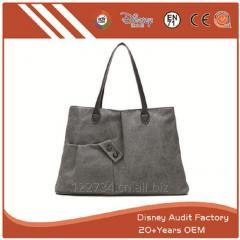 Black Canvas Handbag