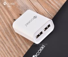 CM-5 Smart Dual USB Charger Wall Chargers Factory US Plug Power Adapter With Charging Cable For Handset and Tablets