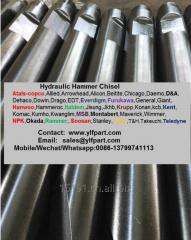 Excavator attachment hydraulic hammer rock breaker chisel moil point tool rod bits