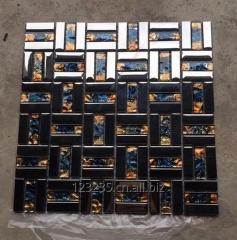 Electroplated glass mosaic, long glass mosaic, China glass mosaic factory