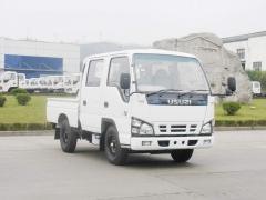 Isuzu white double cabin light duty truck