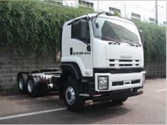 Isuzu 6x4 tractor truck flat cabin