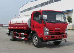 Isuzu 700P road water spraying truck 10000L red