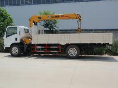 Isuzu Elf truck with crane XCMG 8T
