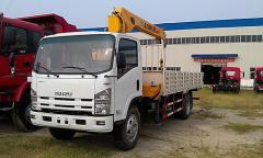 Isuzu Elf Boom crane truck XCMG 5T