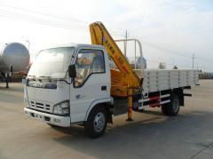 Isuzu 600p truck folder crane knuckle crane XCMG