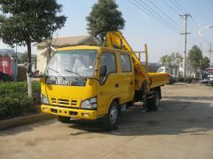 Isuzu 600p truck mounted knuckle crane XCMG