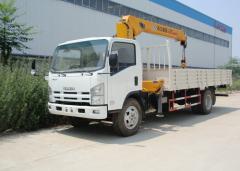 Isuzu 700P straight boom crane truck XCMG 5T