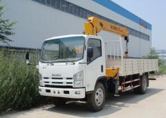 Isuzu 700P truck with crane XCMG 5T