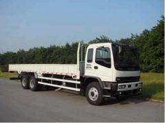 Isuzu 6x4 lorry with crane XCMG 12T