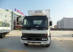Isuzu FTR refrigerator truck white color
