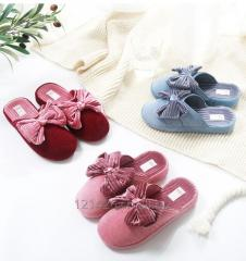 2018 new home corifei slippers winter warm home female high slope with cotton slippers thick bottom indoor non-slip wool shoes