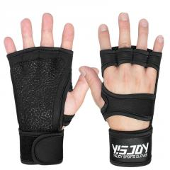 OEM ODM logo stretchable cross training gym exercise bodybuilding weightlifting workout fitness powerlifting gloves