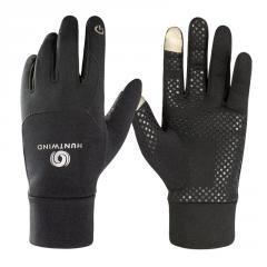 Wholesale full finger running sports gloves warm fleece outdoor running walking jogging trekking gloves supplier
