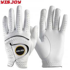 Factory made best men women white genuine cabretta leather outdoor golf gloves for left handed
