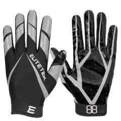 OEM ODM design anti slip football receiver training gloves American football gloves factory