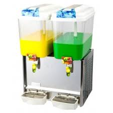 Beverage Juice Dispenser With Two Tanks