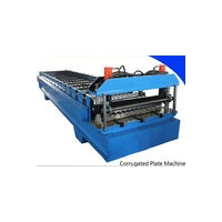 Corrugated steel roofing sheets machine