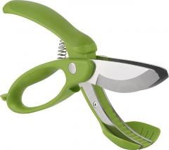 Fruit cutting salad shears vegetable scissors with soft grip handle