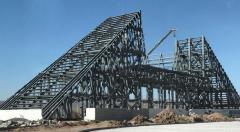 Hangar de métal préfabriqué grande Structure acier