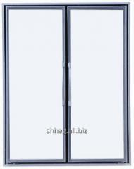 Frameless glass door for a fridge with drinks
