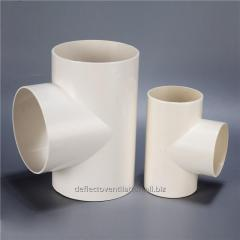 Air Conditioning Parts Round Plastic Tee 90 Degree