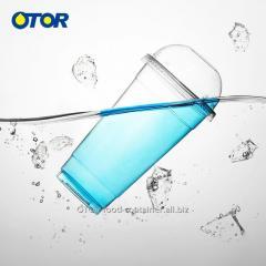 OTOR четкие пластиковые стаканчики PP с крышками