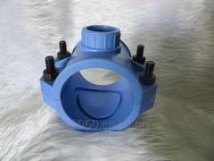 PE pipe clamp   PE saddle PE water separator