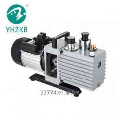 Rotary vane vacuum pumps for refrigerant