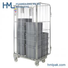 BY-09  4 sided Logistics foldable metal wire mesh