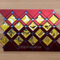 Glass mosaic tile Metal mosaic tile self-sticking