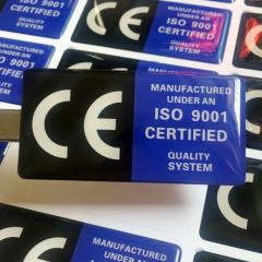 Custom crystal sticker label 3D Crystal clear transparent PVC LOGO self-adhesive label sticker printing