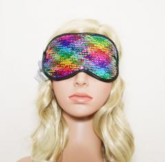 Eye masks with colorful sequins