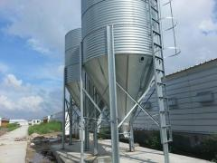 Chicken house feed silo