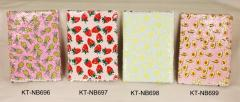 Sequins notebook fruit series, measures 18x13cm.